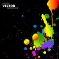 Vector rainbow background with splats