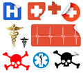 Set of various vector medical symbols
