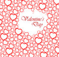 Love vector background made from red hearts