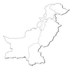 Map of Pakistan stock vector
