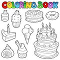 Coloring book various cakes 1