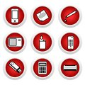 Icon set of home appliances