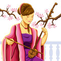 Beautiful Chinese Erhu Player