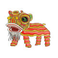 chinese lion dance bg white