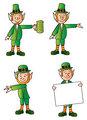 Four Leprechauns