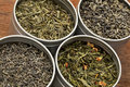 green tea samples