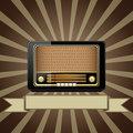 Vector old radio