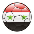Syria flag on soccer ball