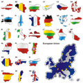 Member States of the European Union in map shape