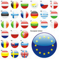 Member States of the European Union in web button shape