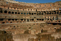 Inside of the Colosseum in Rome