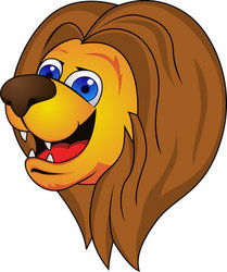 Lion cartoon head - photo#13