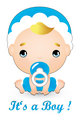 Baby boy welcome card