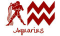 Aquarius Zodiac Signs - Red Sticker