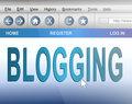 Blogging concept.