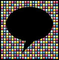 Social media smartphone application icon concept