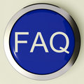 Frequently Asked Questions Button Or FAQ Icon