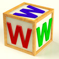 Block With Www As Symbol for Internet And Information