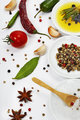 Olive oil and spices