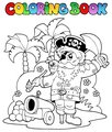 Coloring book with pirate theme 6