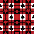 Playing Card Suits Pattern