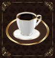 Cute ornate vintage wrapping for coffee, coffee cup