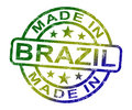 Made In Brazil Stamp Shows Brazilian Product Or Produce