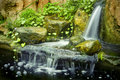 Japanese garden waterfalls
