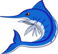 Blue marlin cartoon