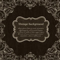 Vintage Frame Design On Wooden Background For Greeting Card. Vec
