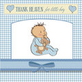 baby announcement card with little boy