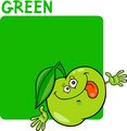 Color Green and Apple Cartoon