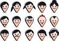 avatar heads, vector faces icon set