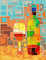 Wine mosaic
