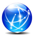 Sphere, Ball illustration with Communication lines