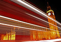 Light Trails Passing the Houses of Parliament.