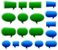 Green & Blue Speech Bubbles