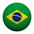 Brazil  Flag Pattern 3d rendering of a soccer ball