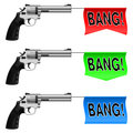 Guns with Bang Flags