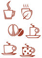 Tea and coffee symbols