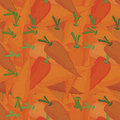 Orange carrots seamless pattern