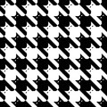 CatsTooth Pattern in Black and White