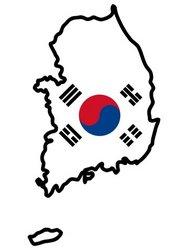 map with flag of South Korea stock vector South Korea Map Flag on