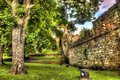 chester walls, hdr image