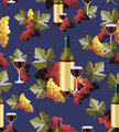 Bottle and glass wine seamless pattern