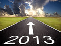 road to the 2013 new year and  sunrise background