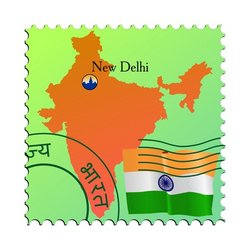 New Delhi is a capital city of India stock vector on