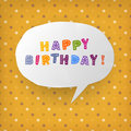 Happy birthday gift card template. Vector illustration, EPS10