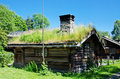 Ancient 18th century Norwegian houses
