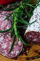 Close up salami